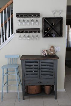 I Love The Home Bar Idea! Wall Wine Glass RackWine Rack In CabinetSmall ...
