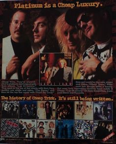 Cheap Trick Promotional Ad https://www.facebook.com/FromTheWaybackMachine/
