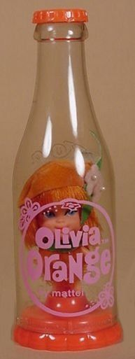 Olivia Orange Soda Pop Kiddle ..Skiddle Kadiddle Kiddles were seriously awesome for their time!