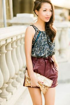 Summer Date Night :: Matrix Sequin & High Waisted Shorts Outfits 2016, Club Outfits, Spring Outfits, Winter Outfits, Night Out Outfit Clubwear, First Date Outfits, Party Mode, Date Night Dresses, Trends