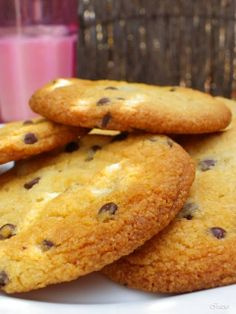 Cookies sin leche y sin huevo Vegan Sweets, Vegan Desserts, Delicious Desserts, Sem Lactose, Lactose Free, Dip Recipes, Cakes And More, Chocolate Chip Cookies, Vegetarian Recipes