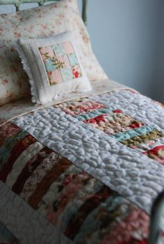 Beautiful old fashioned Blythe Quilt and Throw by smalltownsarah