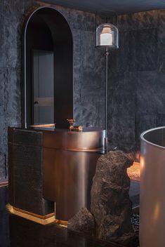 Lobby Interior, Restaurant Interior Design, Interior Architecture, Reception Desk Design, Lobby Reception, Wall Cladding Designs, Lounge Bar, Office Color Schemes, Counter Design