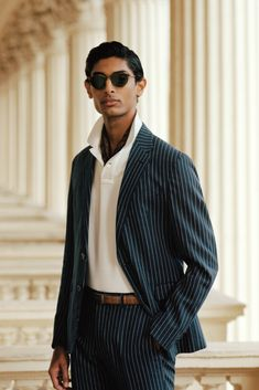 Our double-breasted Polo suit merges impeccable Italian craftsmanship and striped wool twill. Rolled lapels and hand-sewn natural shoulders distinguish the half-canvassed jacket, which pairs with pleated trousers. Preppy Outfits, Spring Outfits, Polo Suits, Preppy Clothing Brands, Polo Ralph Lauren, Suit Jacket, Mens Fashion, Jackets, Shirts