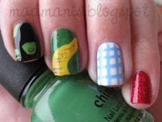 Oz Themed Manicure  I totally *need* to get my nails done like this the next time I go.