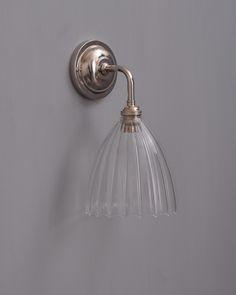 Beautiful wall light also in brass finish dco pinterest ledbury ribbed glass contemporary bathroom light aloadofball Choice Image