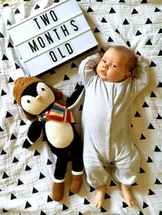Monthly baby photos. 2 months old!