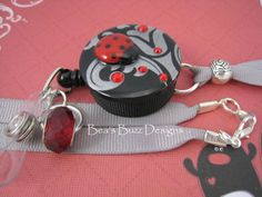 FANCY BUG  Retractable Badge Reel Designer by BeasBuzzDesigns, $20.00
