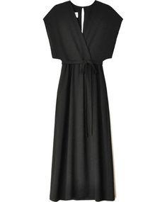 Black Sparrow Wrap Dress - Odylyne