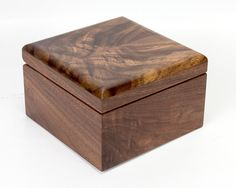 Black Walnut and Figured Walnut Trinket Box by Vollman Woodworking. Available at $50.00.