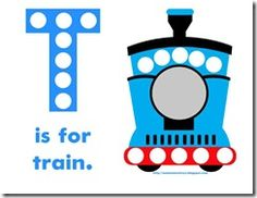 Free printable train tot pack. Kids use trains to practice graphing, shape matching, puzzles, writing Tt, etc.