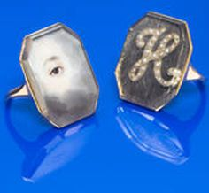 lovers eye jewelry rings             A pair of gold betrothal rings reputed to have been exchanged by Lord Nelson and Lady Hamilton, English 1805