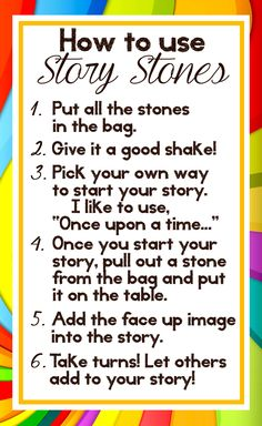 Story stones are a great way to stretch childrens' imaginations and narrative abilities, and can be gifted. Here are printable directions to make Story Stones a gift! Preschool Literacy, Early Literacy, In Kindergarten, Story Sack, Story Stones, Rock Crafts, Art Therapy, Play Therapy, Social Skills