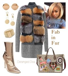 """""""Fab in Fur"""" by derangeddiva on Polyvore featuring Gucci, S.W.O.R.D., Steve Madden and Victoria Beckham"""