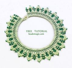 Necklace Greenland - more netting from BeadsMagic ~ Seed Bead Tutorials