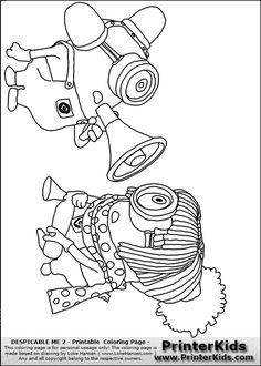 248 Best Minions Coloring Pages Images On Pinterest