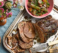 One-pot beef brisket & braised celery recipe Bbc Good Food Recipes, Dinner Recipes, Healthy Recipes, Healthy Food, Simple Spinach Salad, Slow Cooker Recipes, Cooking Recipes, Celery Recipes, Beef Brisket Recipes