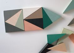 wooden blocks - triangles - love the colours