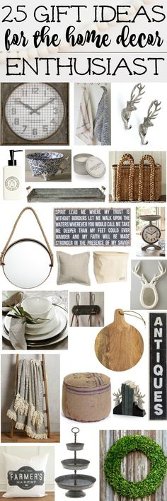An amazing gift guide filled with 25+ awesome home decor gift ideas to get that special person in your life who loves home decor. A must pin for any gift giving occasion!