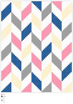 Living the Craft Life: Herringbone Blanket – Free Graph - Herringbone Blanket - Free Graph Crochet Pixel, Crochet C2c Pattern, C2c Crochet Blanket, Tapestry Crochet Patterns, Crochet Chart, Crochet Stitches, Knitting Patterns, Diy Crochet, Cross Stitch Designs