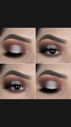 Eye Makeup Steps, Makeup Eye Looks, Eye Makeup Art, Smokey Eye Makeup, Eyebrow Makeup, Pretty Makeup, Skin Makeup, Eyeshadow Makeup, Makeup Inspo