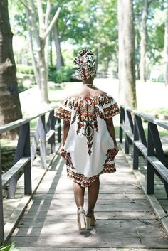 African Clothing for Women: N Y O T A African Print Dress in