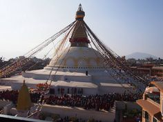 Boudhanath Stupa in Nepal http://www.nepalgatewaytrekking.com/