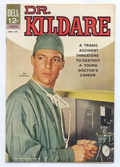 Richard Chamberlain as Dr. Kildare, what a hunk!  Dr. James Kildare is a fictional character, the primary character in a series of American theatrical films in the late 1930s and early 1940s, an early 1950s radio series, a 1960s television series of the same name and a comic book based on the TV show, and a short-lived 1970s television series.