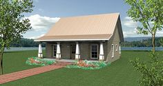 Charming Country Cottage - 2591DH | 1st Floor Master Suite, Cottage, Country, Narrow Lot, PDF | Architectural Designs