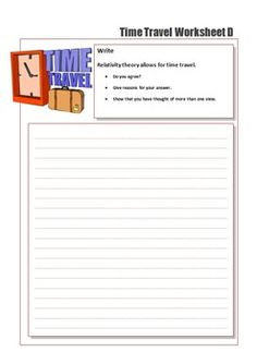 Time Travel worksheets for GT Solar System Worksheets, Theory Of Relativity, New Classroom, Logo Images, Paradox, Critical Thinking, Time Travel, Slogan, Physics