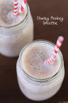 Chunky Monkey Protein Smoothie - A Great After School Snack or Quick Breakfast! -- Tatertots and Jello