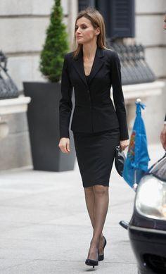 Princess Letizia Photos: Funeral Held for Adolfo Suarez
