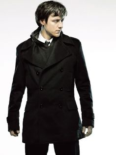 British men and their overcoats...except I thought he was Scottish but really, it doesn't matter