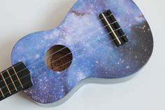 The galaxy ukulele. £40.00, via Etsy. --Yeahh, I'm pinning it again, sorry. I'm definitely going to get one :3