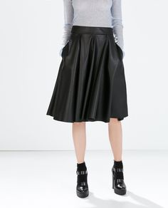 Image 2 of FAUX LEATHER SKIRT from Zara
