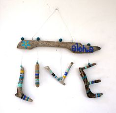 LIVE Aloha Hanging Driftwood Sign by SusterWoodworks on Etsy, $30.00