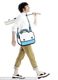 Purchase Jump From Paper Play Hooky from Way Basics on OpenSky. Comic Book Heroes, Comic Books, Jump From Paper, Cartoon Paper, Laptop Messenger Bags, Cartoon Styles, Cool Gifts, Funny Gifts, Fashion Bags