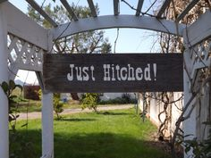 This is the other side of the reversible custom wedding sign! Ranch wedding perfect!