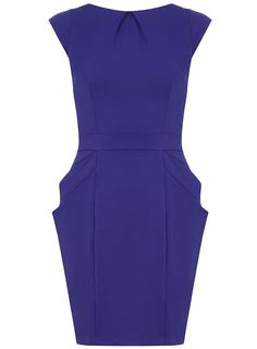 Blue structured dress - Dresses - Clothing - Dorothy Perkins