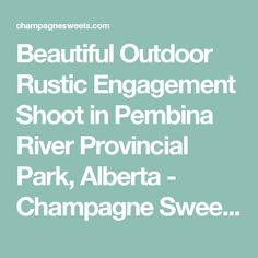 Beautiful Outdoor Rustic Engagement Shoot in Pembina River Provincial Park, Alberta - Champagne Sweets