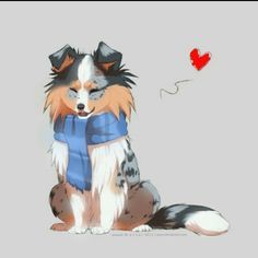 just colored sketch with sheltie based on my dog Sam ^^ more shelties: sheltie with scarf Anime Animals, Animals And Pets, Cute Animals, Cute Kawaii Drawings, Cute Animal Drawings, Dog Illustration, Anime Kawaii, Sheltie, Furry Art