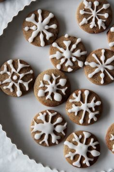 fork and flower: snowflake pepper cookies