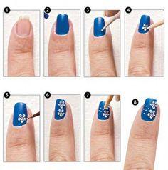 Nail art discovered by on We Heart It Pink Nail Art, Blue Nails, Mani Pedi, Pedicure, Bath And Beyond Coupon, Nail Decorations, Nail Tutorials, Nail Arts, Diy Nails