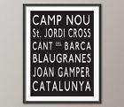 For Sale - FC Barcelona Subway Poster - http://sprtz.us/BarcelonaEBay