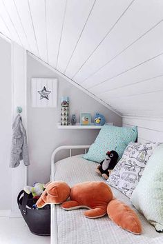 Attic is not always a place warehouse or animal-breeding rodents, try to trim your attic for be converted into a kids room. Description from homemydesign.com. I searched for this on bing.com/images