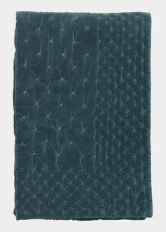 Paolo Bedspread – Bright Grey Turquoise | Bedroom | Bedspreads | Collections | Essentials | Linum