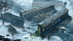 Train crash house by Darius Kalinauskas | Realistic | 2D | CGSociety