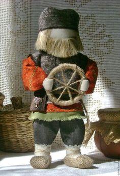 """Купить кукла """"Спиридон-Солнцеворот"""" - рыжий, коричневый, спиридон, спиридон-солнцеворот, коловрат, руль, колесо"""