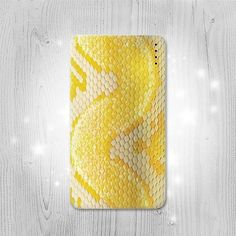 Yellow Snake Skin Gadget Personalized Tech Gift Usb by Lantadesign