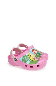 Free shipping and returns on CROCS™ 'Disney Princess™ - Magical Day' Slip-On (Walker, Toddler & Little Kid) at Nordstrom.com. Her favorite Disney™ princesses sparkle on a lightweight slip-on styled with custom floral heel straps and shock-absorbing Croslite® for day-long comfort.